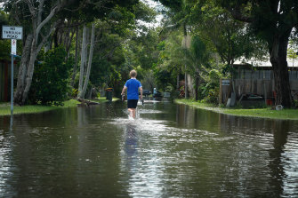 Flooding in Byron Bay earlier this month.