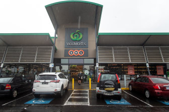 Woolworths' Coburg Station store was one location the company was forced to temporarily shut this week.