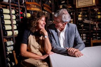 Terry Durack and Jill Dupleix at Beppi's.