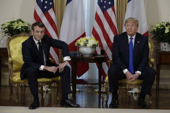 "At one point, Macron told Trump: ""Let's be serious""."