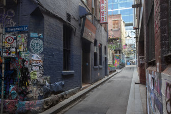 Tattersalls Lane in the CBD is on the list of 40 city alleys to be included in the project.