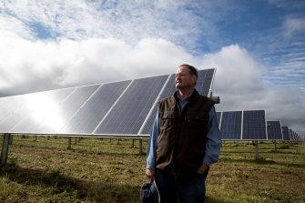 Tom Warren, a farmer whose land hosts a solar farm near Dubbo, says more renewables will help revive regional economies.