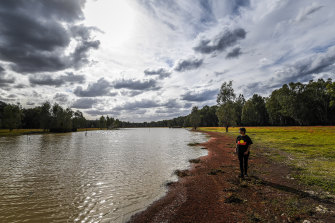 Monica Morgan, standing near Hutt Lake, dreams of a future where generations of Aboriginal and non-Aboriginal people can enjoy a pristine Barmah National Park.