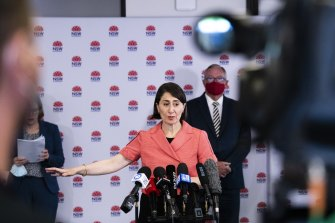 NSW Premier Gladys Berejiklian has announced the New Year's Eve restrictions which will see people unable to entre the CBD unless they have a permit.