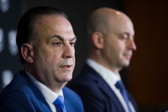 Their respective overseas trips in recent weeks seemed to suggest that ARLC chairman Peter V'landys and NRL CEO Todd Greenberg were doing each other's job.