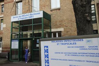 Paris' Bichat hospital, where Europe's first coronavirus death was recorded.