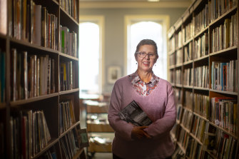 Sue Westwood, business manager of the Melbourne Athenaeum Library.