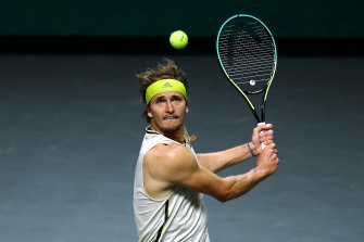 Alexander Zverev says the rankings are not really representative of him at the moment.