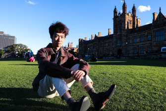 Decheng Clement Sun, a Chinese student leader at the University of Sydney.
