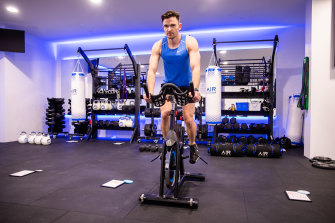 Journalist and personal trainer Sam Downing at Airlocker Training gym in Bondi Junction.