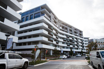 The Wentworth Point apartment complex where Mr Barbaro was arrested.