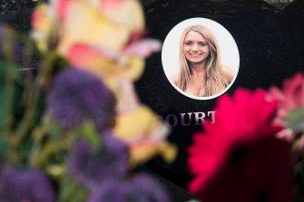 Courtney Herron was buried beside her grandfather.