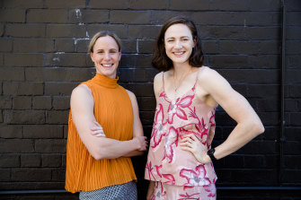 No stopping them: Olympic swimmers Bronte and Cate Campbell.