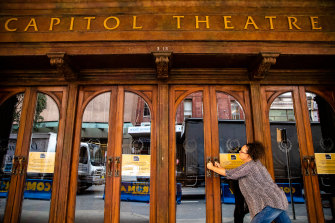 Emma Powell's daily walks take her past the Capitol Theatre where she should be performing each night in the musical Come From Away.