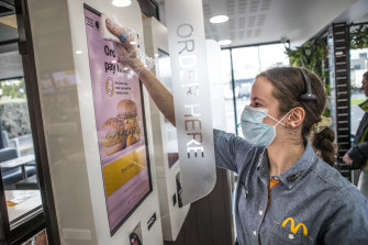 Fast-food chains are developing drive-through-only outlets and separate counters and waiting areas for delivery drivers.