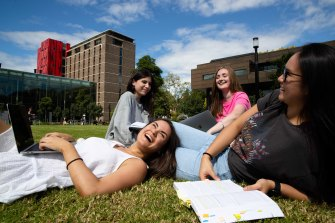 Macquarie University law students,  Libby Woodhill, Alessia Iacono, Katie Lewis and Natasha Ng.
