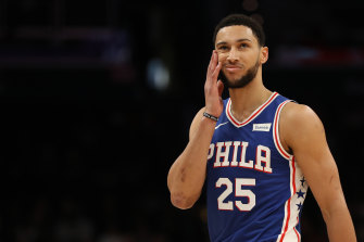 Ben Simmons' 76ers will be in action early on Boxing Day, AEDT.