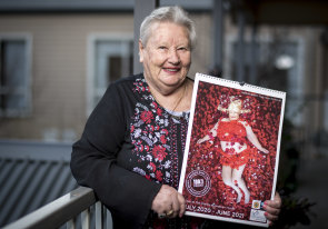 'I love it': 84-year-old Peggy Warren's re-creation of an image from the movie American Beauty made the cover of a fundraising calendar.