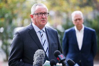NSW Health Minister Brad Hazzard said the staggered approach would help concerned parents.