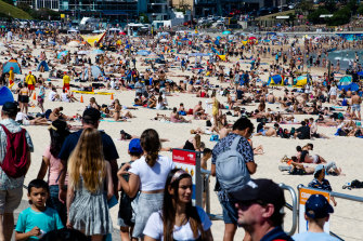 Hundreds of people flocked to Bondi and other beaches over the long weekend.