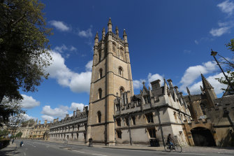 Magdalen College in Oxford, England.