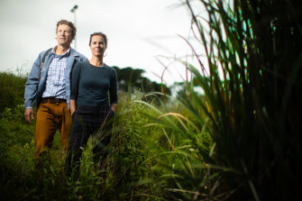 Tom Bodycomb and Tamsin O'Neill in Elsternwick Nature Reserve.