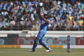 Rohit Sharma is in doubt for Sunday's ODI clash after hurting his shoulder in the second match on Friday.