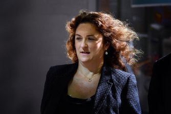 Sarah Cruickshank, the former chief of a staff to Premier Gladys Berejiklian, arrives at ICAC to give evidence.
