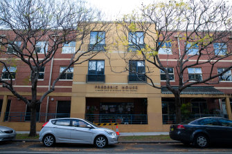Roughly a third of residents at Frederic House aged care facility at Waterloo have tested positive to COVID-19.