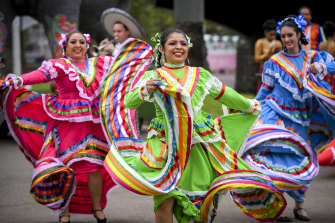 Dancers at Moomba festival last year, just before the pandemic hit.