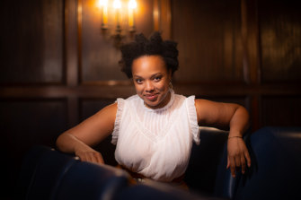 Sharriese Hamilton plays Hannah in Come From Away.