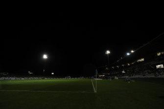 Lightning strikes took out the lights at Netstrata Jubilee Stadium in Kogarah.