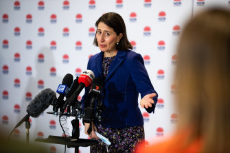 Premier Gladys Berejiklian says reaching vaccination milestones will prompt the easing of restrictions.