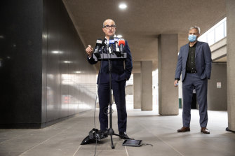 """""""We are not through this pandemic"""": James Merlino delivers the latest lockdown news."""