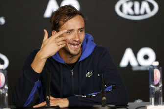 Russia's Daniil Medvedev says he is honoured by John  McEnroe's appraisal of him as the player likely to challenge the Big Three at the Australian Open.