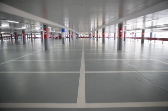 You don't often see so many empty parking spaces at Melbourne Airport outside of a pandemic.