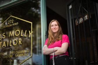 """Molly Barrington thinks people in her demographic are """"definitely becoming more aware"""" of tailors."""