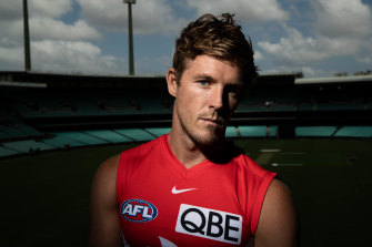 Luke Parker has won his third Sydney Swans club champion award, but his future at the club is unclear.