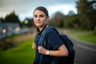 Sienna Leeves, who is grade 5, was looking forward to going to Frankston High with her friends.