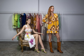 Fashion designer Alice McCall (right) is shaking up her business post-COVID by experimenting with different retail models.