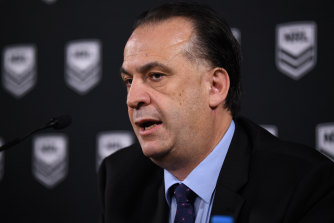 Peter V'landys has influential NRL club bosses in his corner.