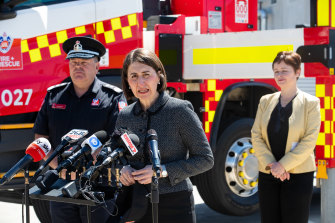 NSW Premier Gladys Berejiklian said she is concerned about possible flood threats this summer.