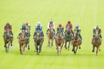 Chris Waller's autumn team spread across the track in a Rosehill barrier trial on Friday.