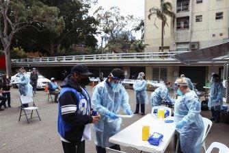 A Sydney COVID-19 vaccination hub.