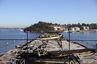 The Waverton Coal Loader wharf which has now been heritage listed.