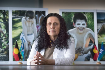 Showing the way forward: Professor Muriel Bamblett, chief executive of the Victorian Aboriginal Child Care Agency.