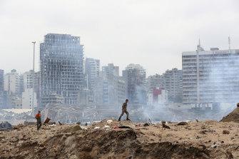 Devastation in Beirut.