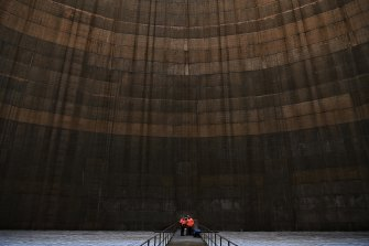 At about half a million cubic metres in size and precisely engineered, the cooling tower makes for a unique experience as an echo chamber of monstrous dimensions.