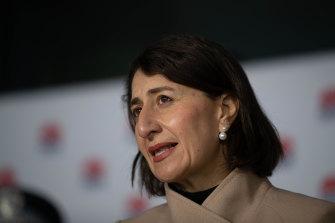 NSW Premier Gladys Berejiklian at Tuesday morning's press conference.