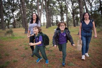Kaileen Pearson (left), her daughter Mandy and grandchildren Sebastian and Morgan.